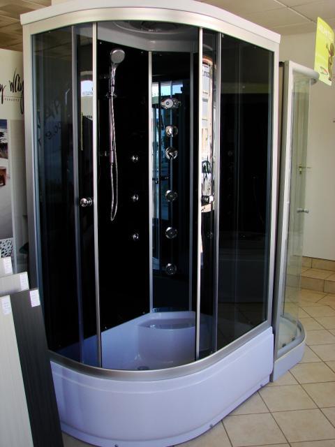Aqualife Brill D1202 aszimmetrikus hidromasszázs zuhanykabin BALOS